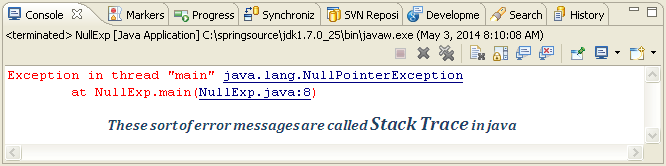 how to fix java null pointer exception or java.lang